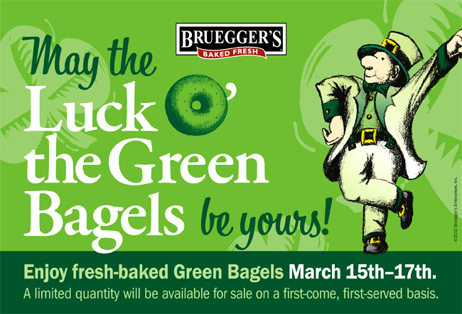 Celebrate St. Patrick's Day with Green Bagels!