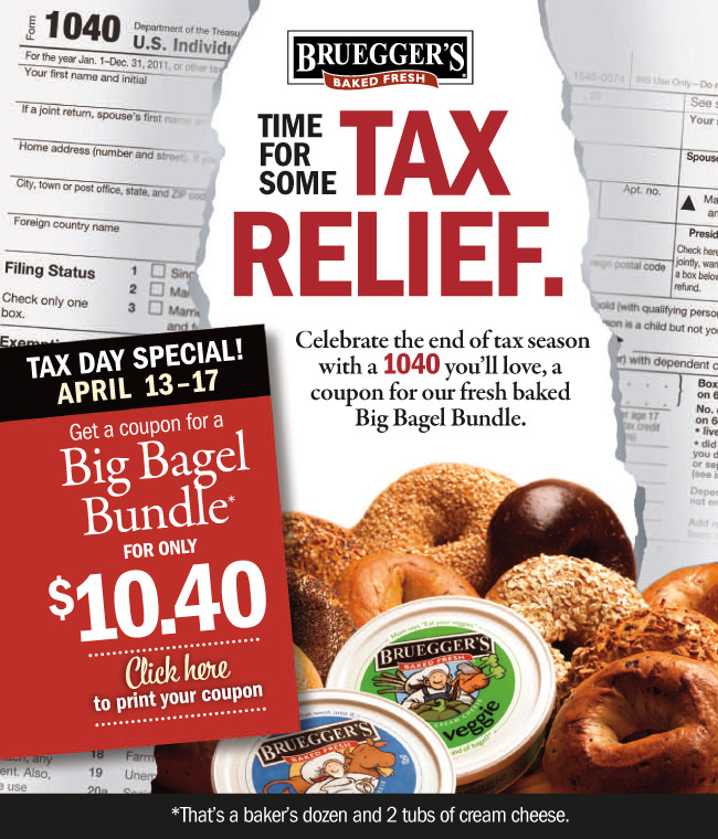 Tax Day Bagel Specials!